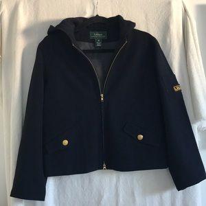 Lauren Ralph Lauren navy blue/gold hooded jacket M